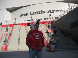 Hans Steiniger at Joe Louis Arena in Detroit